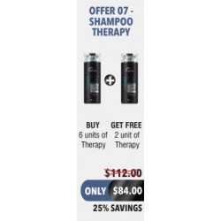 OFFER 7 THERAPY SHAMPOO..
